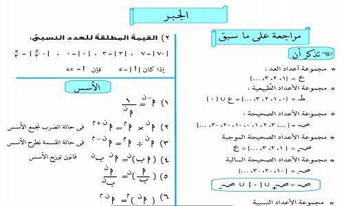 ملزمة رياضيات الصف الثانى الاعدادى 2020 شرح وتدريبات