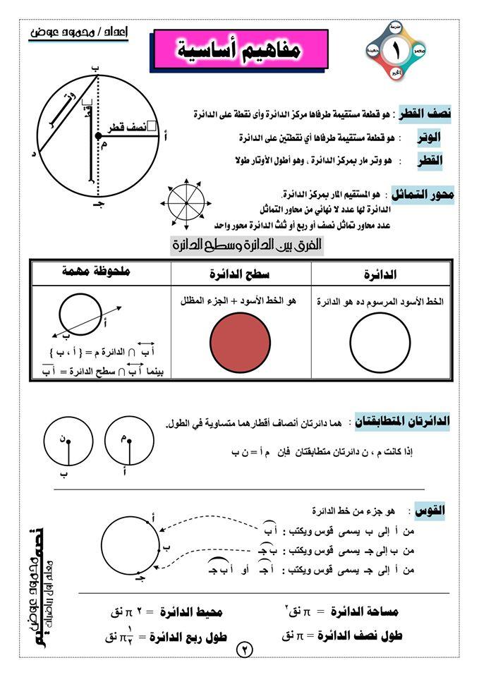 اقوى شرح هندسة الثالث الاعدادي الترم الثاني